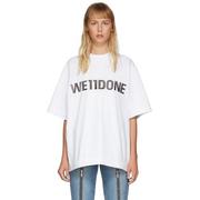 We11done 女士白色 Logo T恤