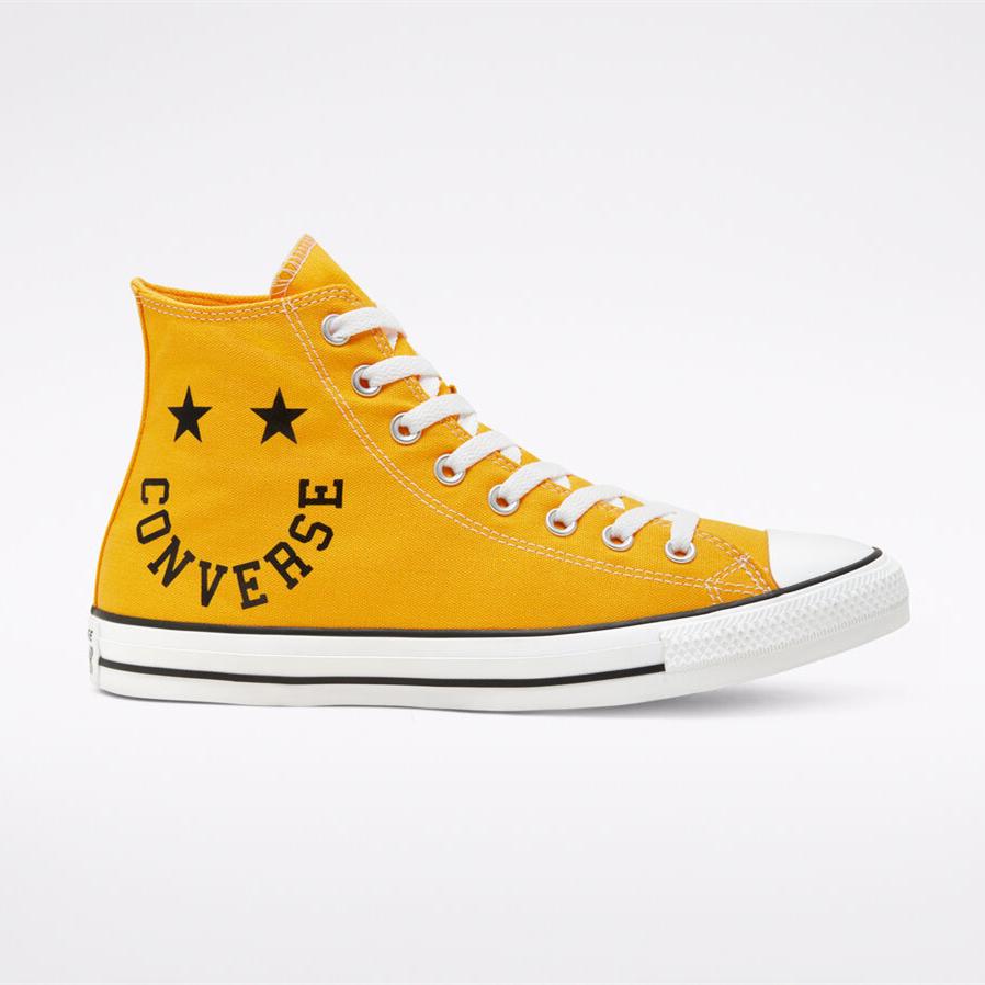 Converse 匡威 All Star 黃色笑臉高幫鞋