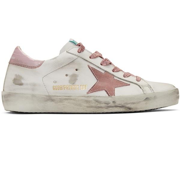 【獨家發售】Golden Goose 白色 & 粉色 Superstar 小臟鞋