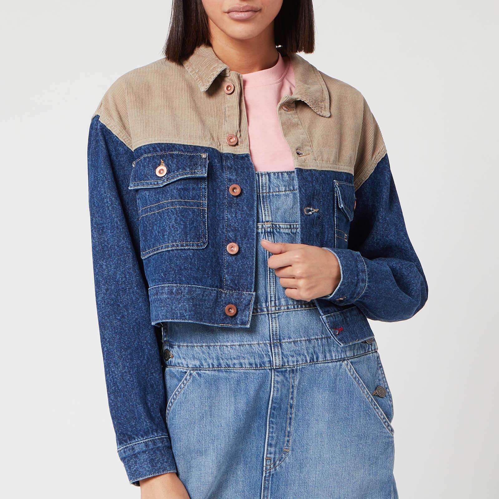 Tommy Jeans 拼接短款牛仔外套