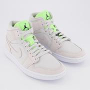 Jordan 1 米灰綠色運動鞋