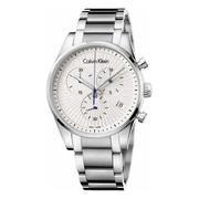 近期低價!Calvin Klein 卡爾文·克萊因 Steadfast 系列 銀色男士時裝腕表 K8S27146