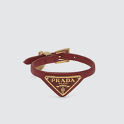 Prada Triangle Logo 皮革手環