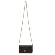 【定價優勢】Gucci Black Quilted GG Marmont 2.0 黑色背包