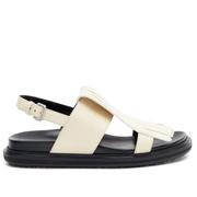【38/39碼有貨】MARNI Fussbett 白色真皮涼鞋