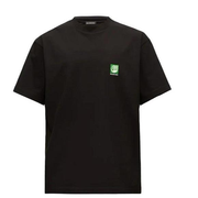 BALENCIAGA Bio logo印花黑色T恤衫
