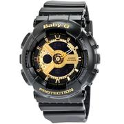 【55專享】Casio 卡西歐 Baby-G 系列 黑金配色女士運動腕表 BA110-1A