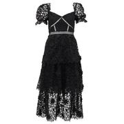 SELF-PORTRAIT 黑色蕾絲連衣裙