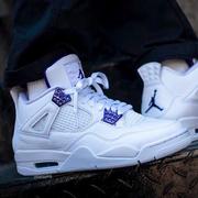 【5姐資訊】喬丹 Air Jordan 4 Retro SE 男子籃球鞋 Court Purple