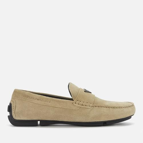 【7折】EMPORIO ARMANI 男士麂皮駕駛鞋