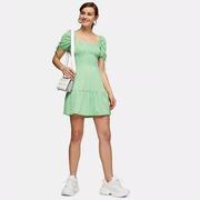 【娜扎類似款】Topshop 綠色方格連衣裙
