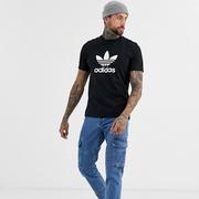 Adidas 阿迪達斯 ORIGINALS TREFOIL 經典款男款黑色T恤
