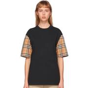 【額外8折】Burberry 巴寶莉 格紋拼接T恤
