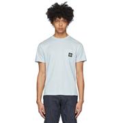 Stone Island 藍色口袋徽標T恤