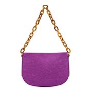 【5折】BY FAR 紫色 Pelle 搭鏈單肩包