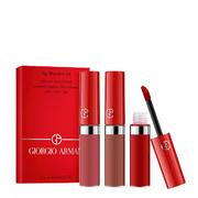 【每滿$250送價值$50禮卡】Giorgio Armani 阿瑪尼紅管唇釉三件套