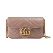 Gucci Supermini GG Marmont Matelassé 皮革單肩包