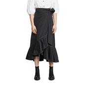 GANNI 再生面料厚實聚酯纖維半身裙