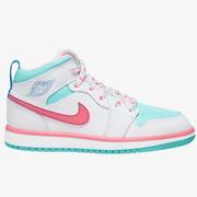 【新】喬丹 Air Jordan 1 Mid 中童款籃球鞋 南海岸粉綠