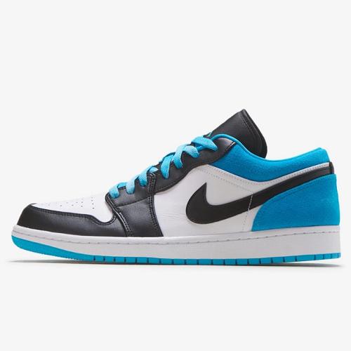 喬丹 Air Jordan 1 Low 男子籃球鞋 激光藍配色
