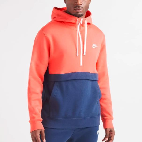 【斷碼福利】Nike 耐克 NSW Club 男子半拉鏈連帽衛衣 S碼