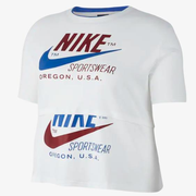【額外7.5折】Nike 耐克 Plus Size 女子雙勾運動T恤