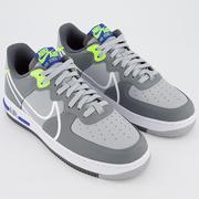 Nike 耐克 Air Force 1 React 空軍1號 煙灰色運動鞋