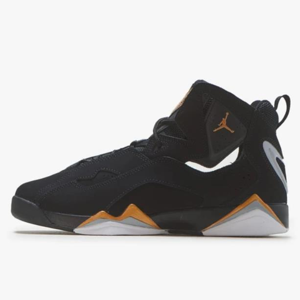 Air Jordan 喬丹 True Flight 大童款籃球鞋 黑金 加強
