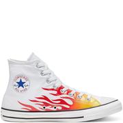Converse 匡威 All Star 白色火焰高幫帆布鞋