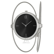 Calvin Klein 卡爾文·克雷恩 Agile 系列 銀黑色女士時裝腕表 K2Z2M111