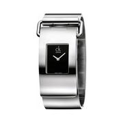 Calvin Klein 卡爾文·克雷恩 Pump 系列 銀黑色女士時裝腕表 K3K2M111