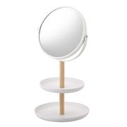 【中亞Prime會員】Yamazaki 山崎實業 臺式首飾收納托盤化妝鏡