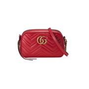 Gucci GG Marmont 小號紅色相機包