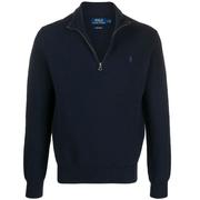 【額外8折】Polo Ralph Lauren 海軍藍男士刺繡拉鏈毛衣