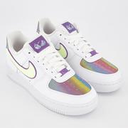 Nike 耐克 Air Force 1 07 空軍1號 彩虹漸變低幫運動鞋
