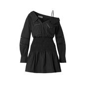 SELF-PORTRAIT 單肩鉤編邊飾迷你連衣裙
