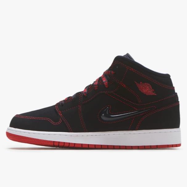 喬丹 Air Jordan 1 Mid 大童款籃球鞋 Fearless US5.5碼