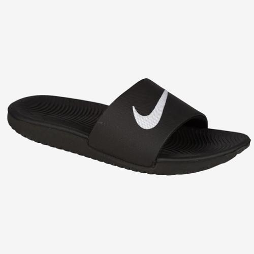 【額外7.5折】Nike 耐克 Kawa Slide 大童款拖鞋 黑白配色