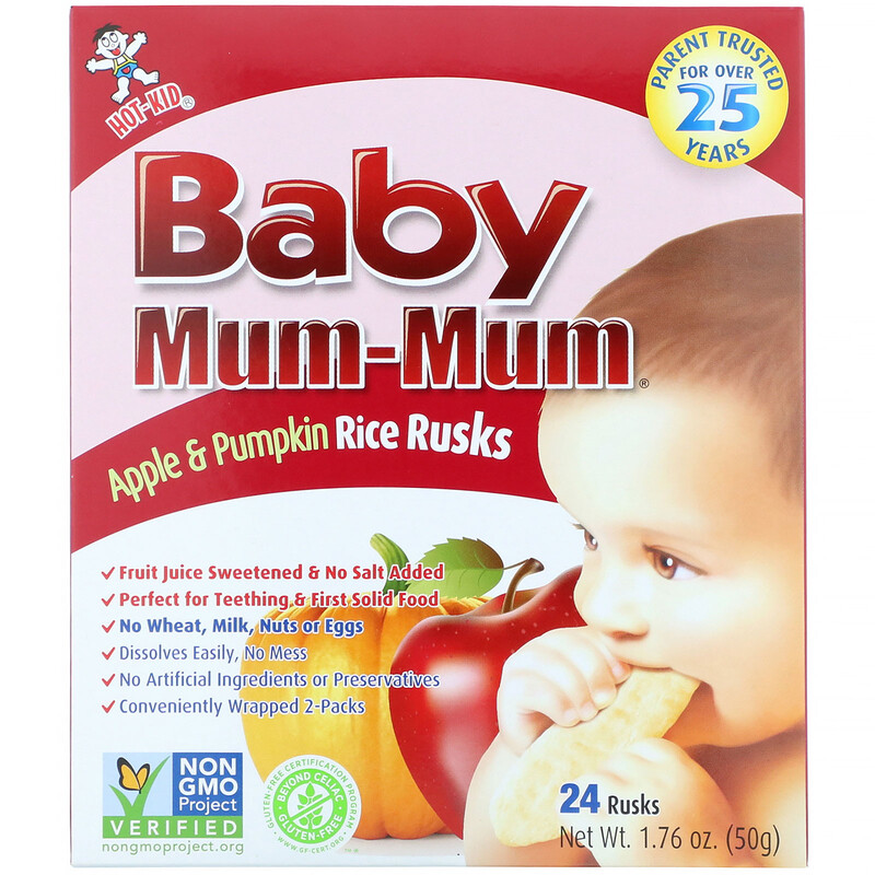 Hot Kid Baby Mum-Mum 蘋果南瓜米餅 50g