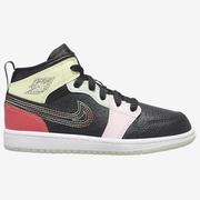 【額外7折】Jordan 喬丹 1 Mid 中童款籃球鞋 線條配色