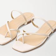 AEYDē Marina 皮革拖鞋