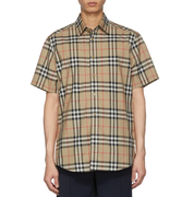 Burberry 格紋 Caxton 短袖襯衫