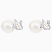 【5折】Swarovski 小天鵝珍珠耳釘