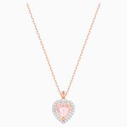 【5折】Swarovski 粉水晶之心項鏈