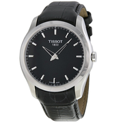 【55專享】Tissot 天梭 Couturier 系列 銀黑色男士氣質腕表 T035.446.16.051.00