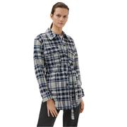 ARKET 羊毛混紡格紋綁帶襯衫