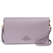 COACH Hayden 紫色真皮斜挎包