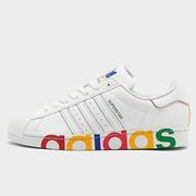 ADIDAS 阿迪達斯 ORIGINALS 彩虹字母貝殼頭板鞋