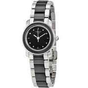 【55專享】Tissot 天梭 T-Trend 系列 銀黑色女士優雅陶瓷腕表 T064.210.22.056.00