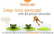 Baby Legs: 全場商品特價$4促銷